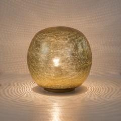 TABLELAMP BALL FLSK GOLD 30     - TABLE LAMPS
