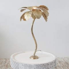 TABLE LAMP PALM TREE SMALL GOLD     - TABLE LAMPS