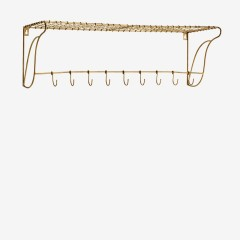WIRE HAT RACK WITH HOOKS COPPER 76