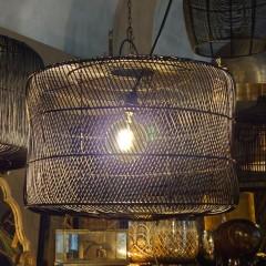 BLACK CYL LAMP RATTAN      - HANGING LAMPS