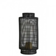 TABLE LAMP WIRE CYLINDER BLACK     - TABLE LAMPS